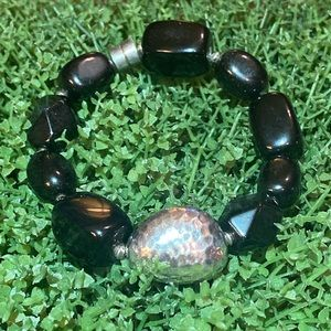 New Silpada Black Quartz Bracelet
